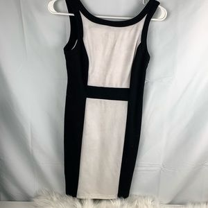 White and black business/formal event dress